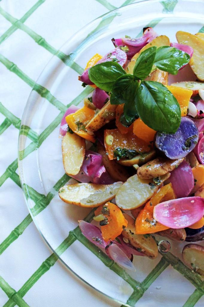 Fingerling Potatoes With Herb Vinaigrette Recipe — Dishmaps
