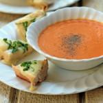 Cream of Tomato Soup with Cheese Tartines