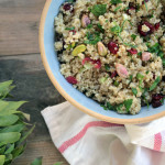 Quinoa Pilaf with Pistachios and Dried Cranberries