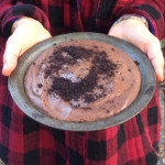 Frozen Chocolate Raisin Pie