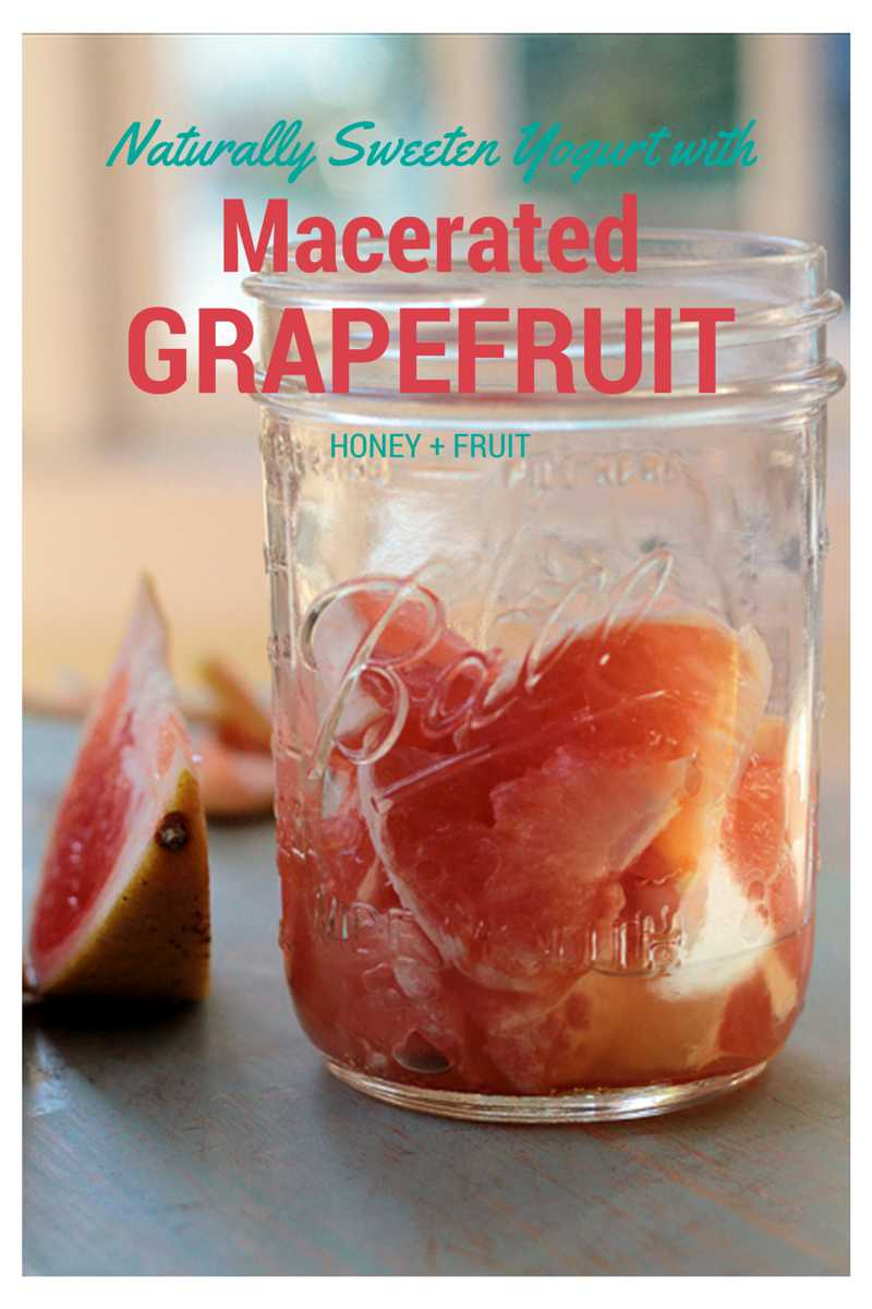 Macerated