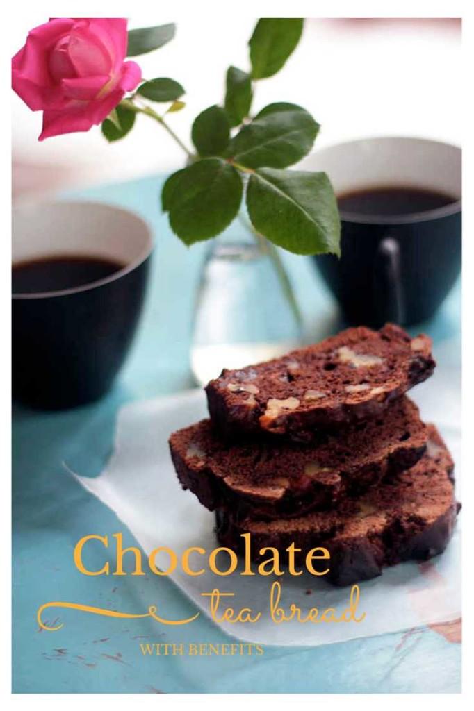 Chocolate Tea Bread with Benefits