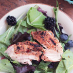 Berry Good Salad with chicken and a light vinaigrette