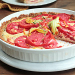 Tomato Cheddar pie with Quinoa Shell