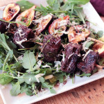 Beef and fig salad with merlot vinaigrette