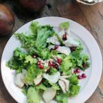 pear pomegranate turkey salad