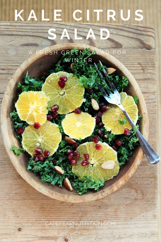This salad screams WINTER. It boasts  fresh and flavorful fruits and vegetables in season during the winter months.