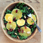 Kale Citrus Salad with Pomegranate arils