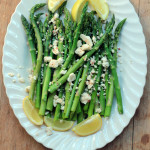 Lemony Asparagus with feta cheese