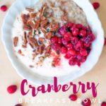 Cranberry Breakfast Bowl