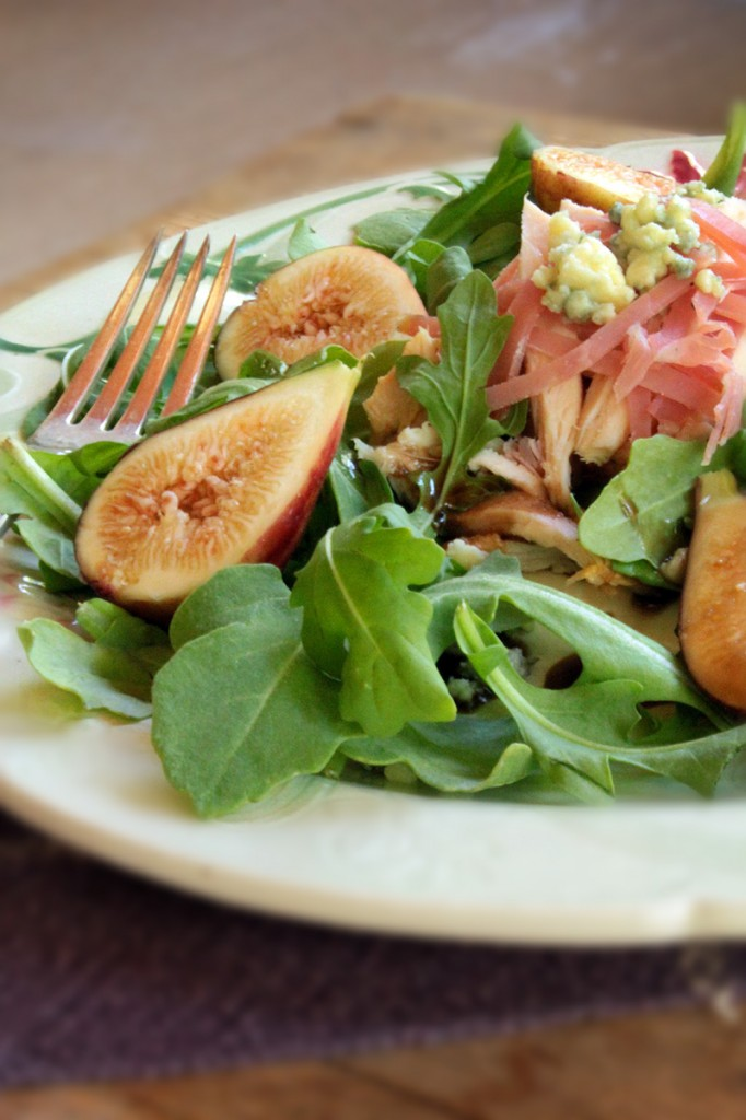 Arugula, Chicken and Fig Salad with Balsamic Vinaigrette