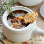 Pasta Fagioli with Parmesan Crisps