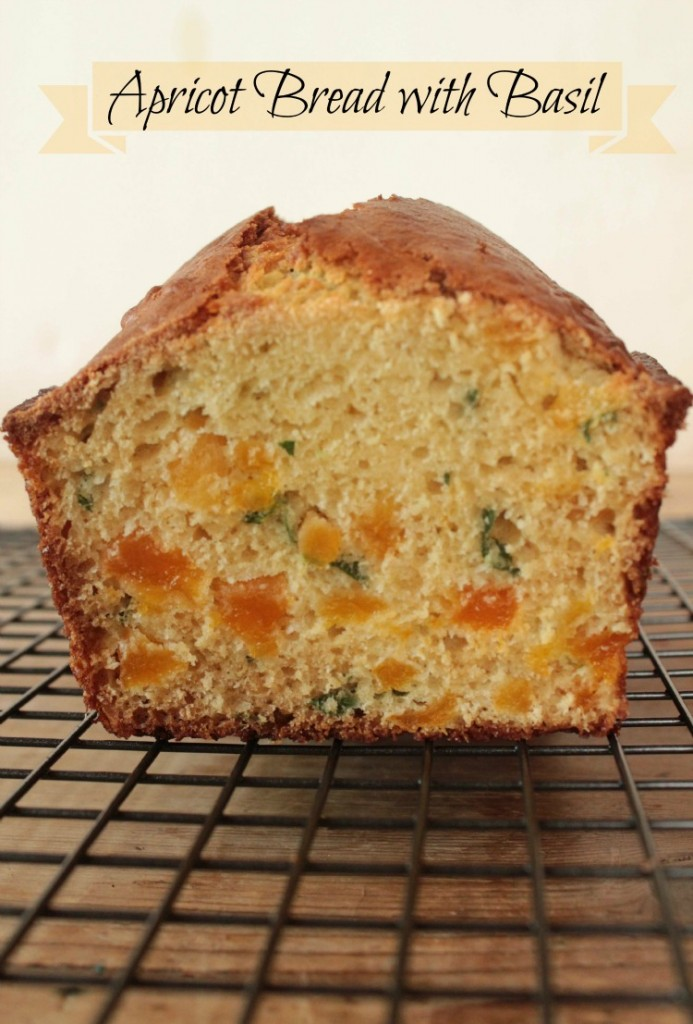 Apricot Bread with Fresh Basil