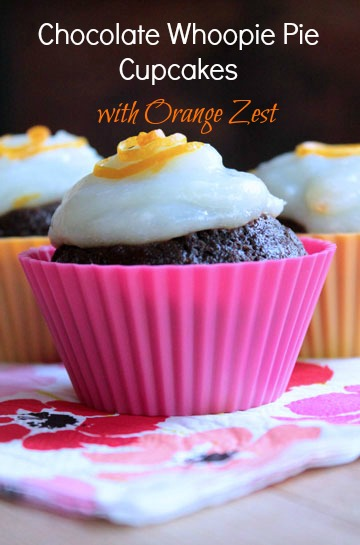 Recipe Redux: Chocolate Whoopie Pie Cupcakes with Orange Zest
