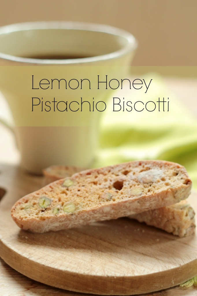 Lemon Honey Pistachio Biscotti