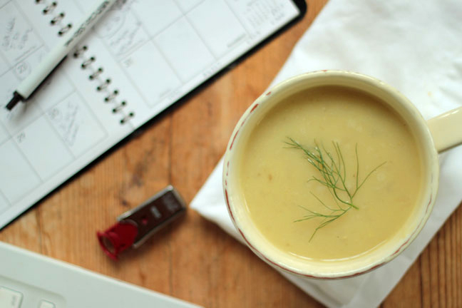 California Sweetpotato Fennel Soup