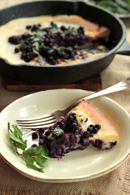 Wild Blueberry Dutch Pancake