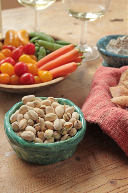 In-Shell Pistachios; Dip into Mediterranean Style
