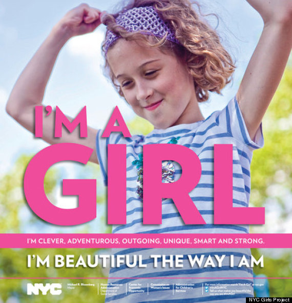 I'M AGIR. NYC Mayor's campaign to reduce poor self esteem in young women
