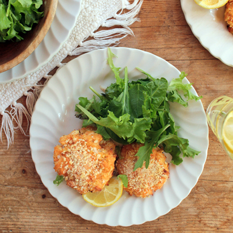 Salmon Patties are great served in a bun or as a salad topper.