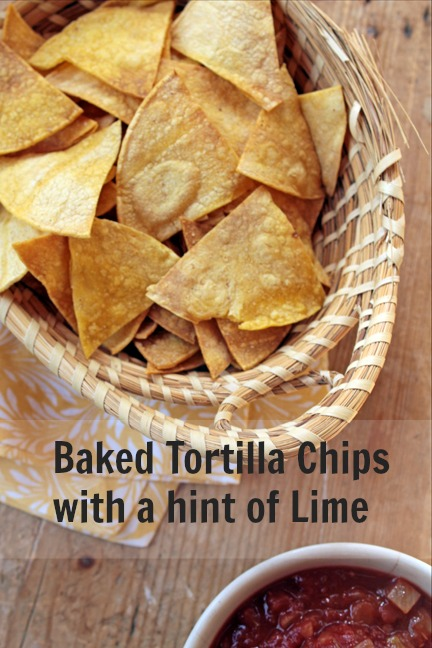 Baked Tortilla Chips with a Hint of Lime