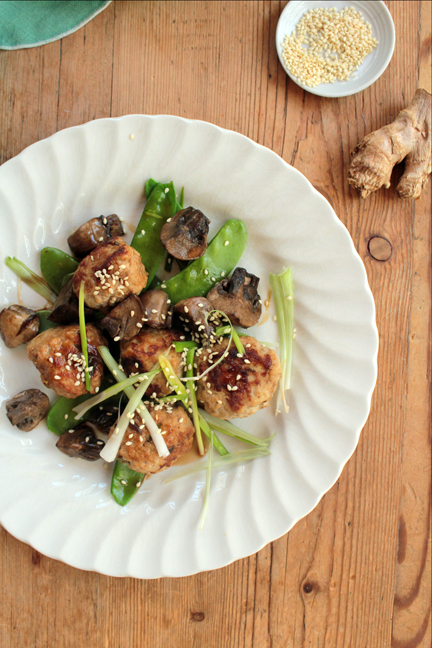 Copycat Ginger-Sesame Braised Chicken Meatballs