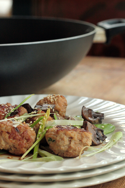 Copycat Ginger-Sesame Braised Chicken Meatballs