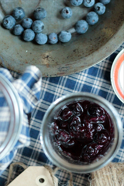 Reduced Sugar Blueberry Sauce