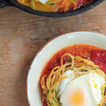 Spaghetti 'N Eggs with Tomato Paprika Sauce