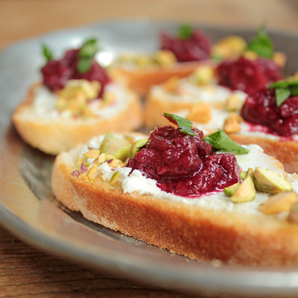Shortcut to Festive Red Berry Crostini