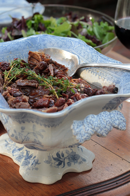 Slow-cooked American Lamb with Jammy Red Wine