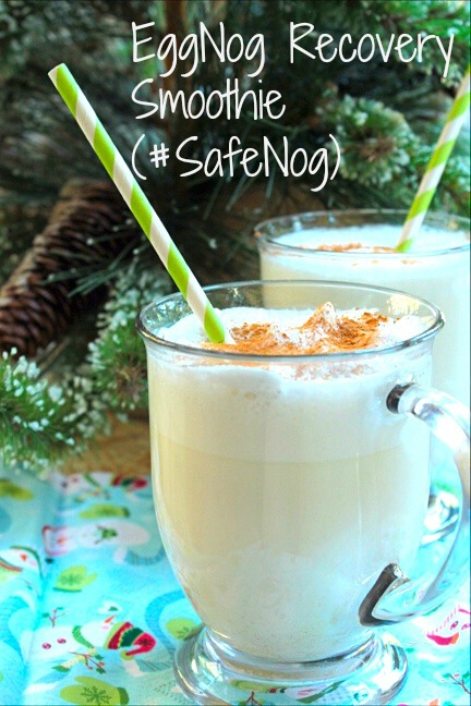 Eggnog Recovery Smoothie (#SafeNog)