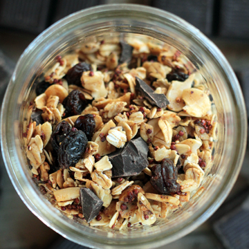 Dark Chocolate  Granola with Za'atar