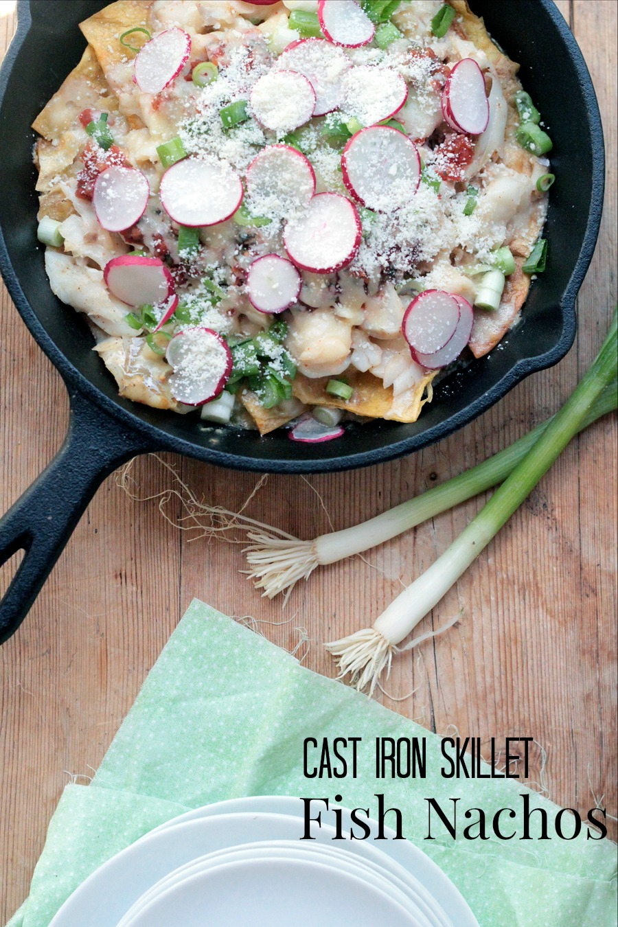 cast iron skillet fish nachos