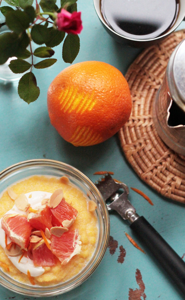 Creamy Polenta with Oranges & Almonds