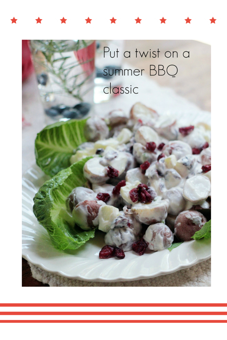 Cranberry and Cucumber Potato Salad