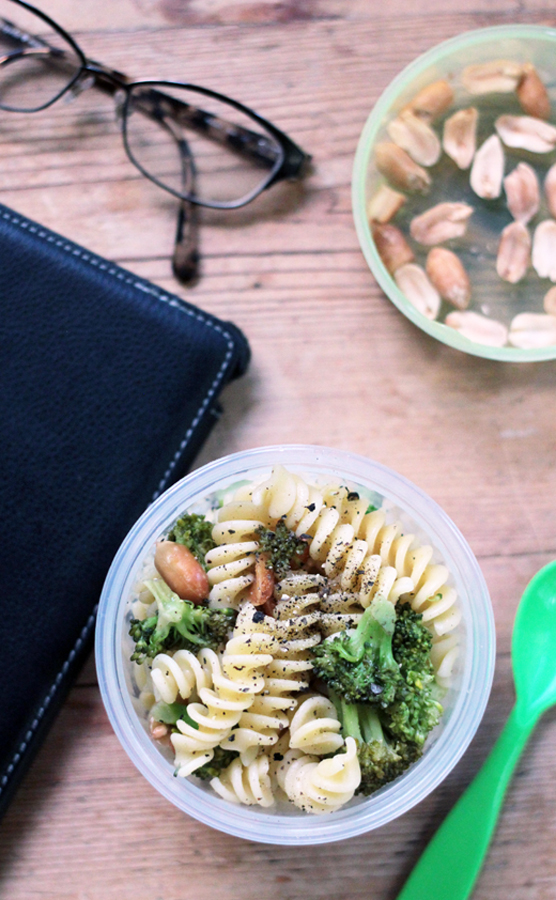 Fusilli with Broccoli & Peanuts