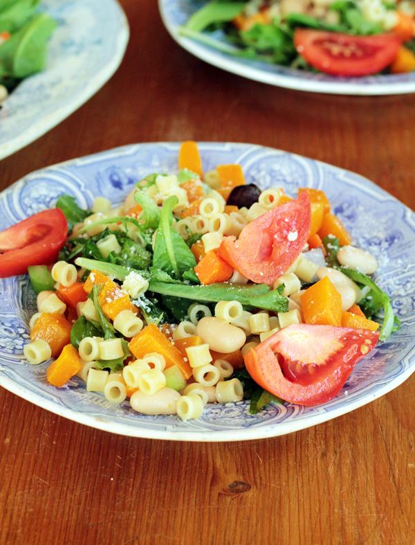 Warm Minestrone Pasta Salad