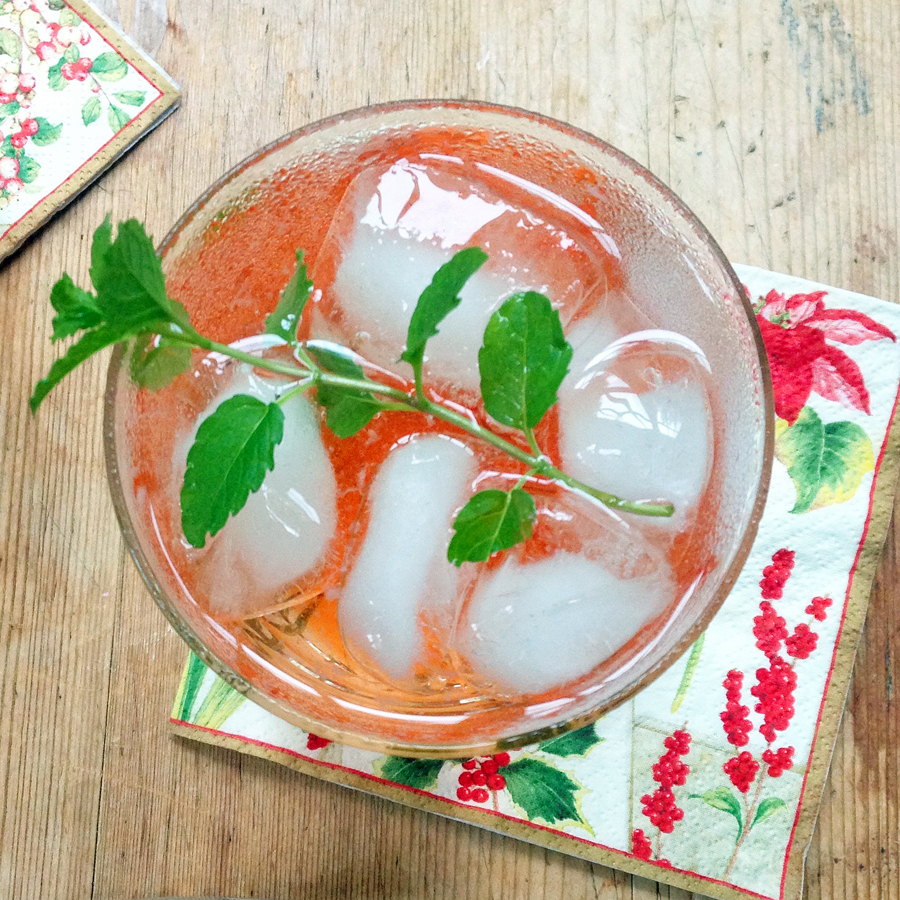 Strawberry Mint Shrub