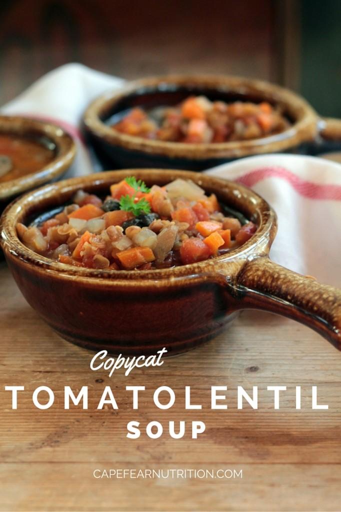 CopyCat Tomato Lentil Soup