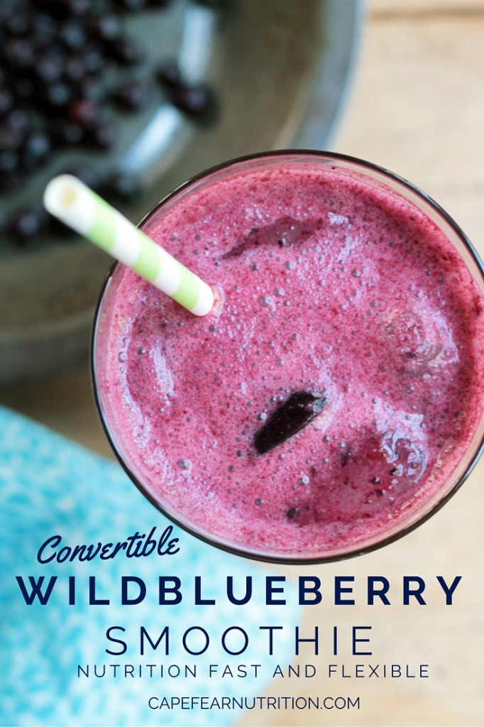 Convertible Wildblueberry Smoothie