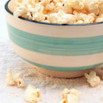 Popcorn made in a brown bag and seasoned with turmeric makes a low calorie, heart healthy snack that's also is a serving of whole grains.