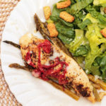 Parchment Chicken Caprese with Asparagus